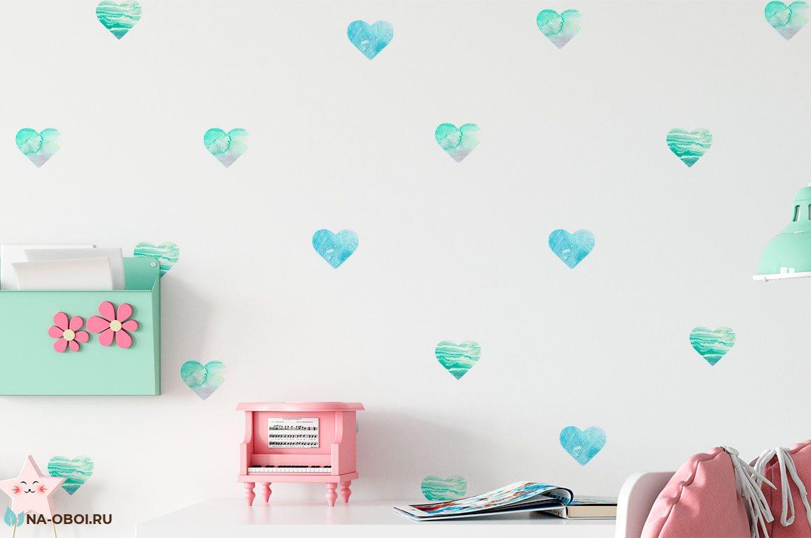 Круги наклейки для оформления и декора детской комнаты